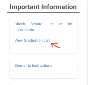 Nysc graduation list