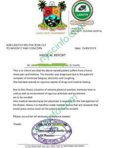 How To Get Medical Fitness Certificate For NYSC Registration