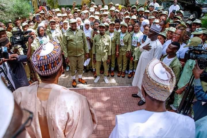 Buhari donates two cows, ten bags of rice to Corps Members