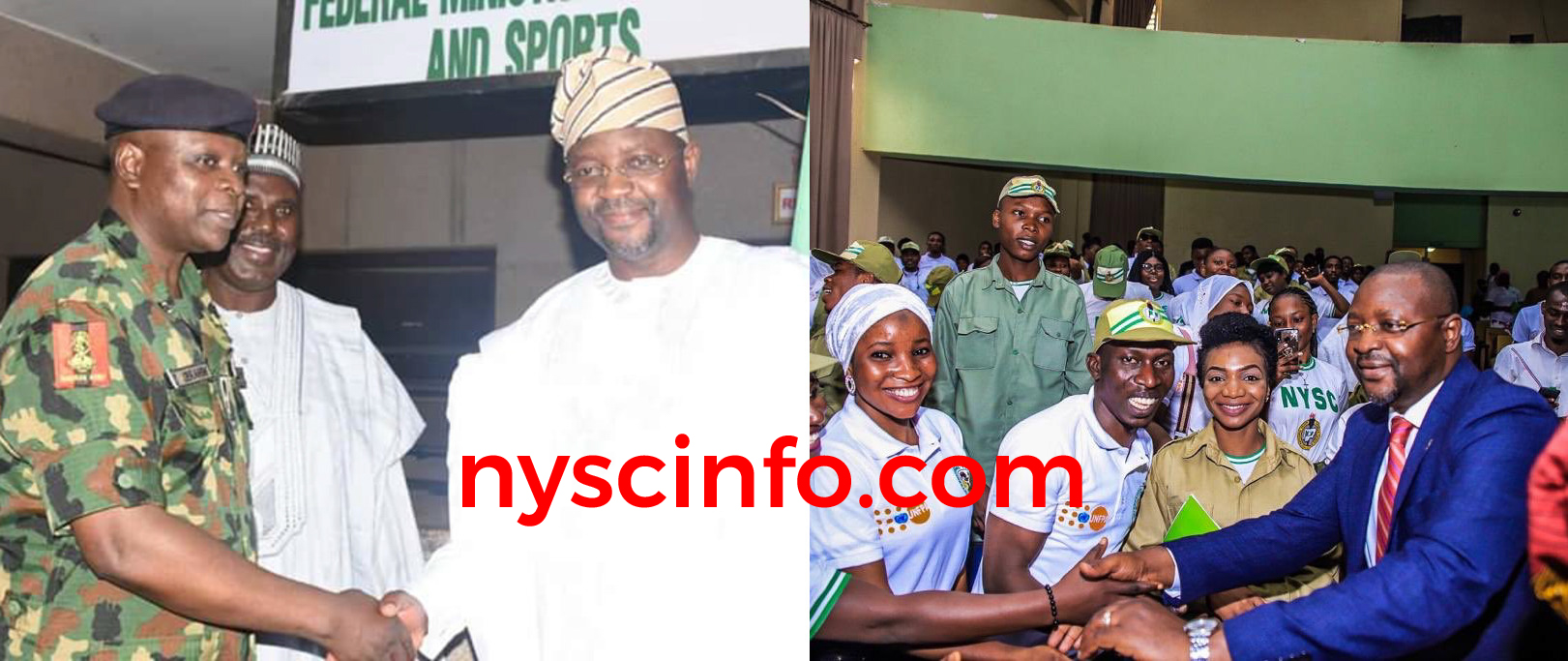 NYSC DG, Corpers welcome new Minister of Youth and Sports