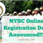 NYSC Online Registration Date